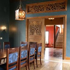 Mediterranean Dining Room by ARC Design