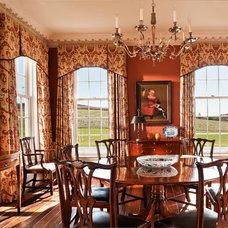 Farmhouse Dining Room by John B. Murray Architect