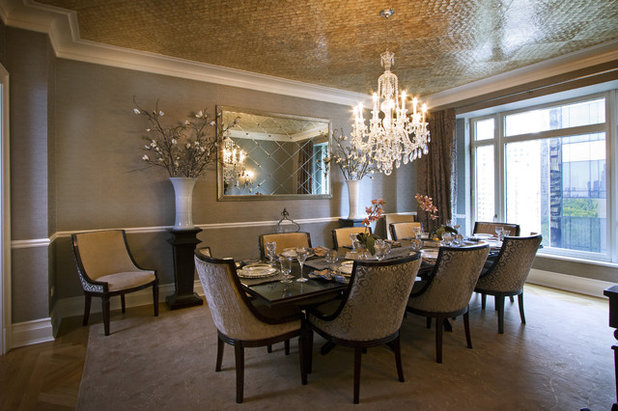 Traditional Dining Room by A. Rejeanne Interiors