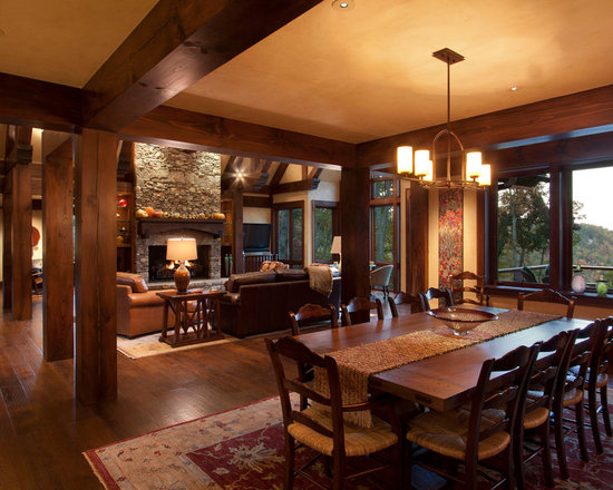 pecan wood dining room design ideas, remodels & photos