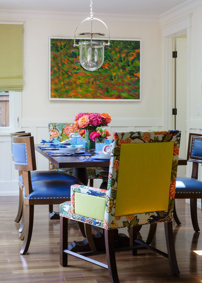Transitional Dining Room by Ann Lowengart Interiors
