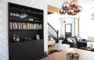 Houzz Tour: Black Cabinets, Trim and Doors Wow in This Victorian