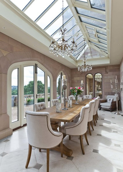 Transitional Dining Room by Vale Garden Houses