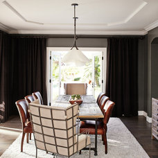 Transitional Dining Room by Kristina Wolf Design