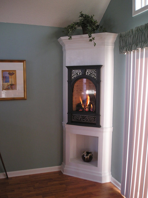 Small Corner Fireplace