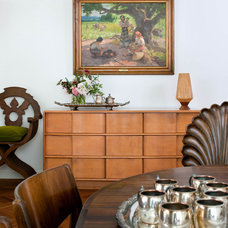 Midcentury Dining Room by Kristen Rivoli Interior Design