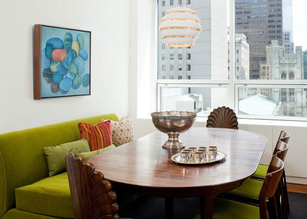 Midcentury Dining Room by Kristen Rivoli Interior Design