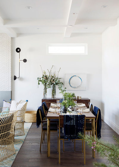 Transitional Dining Room by PURE Design Inc