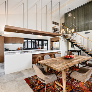 Inspiration for a contemporary dining room in Perth.