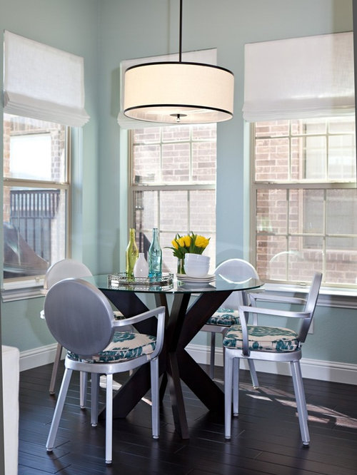 Simple Dining Room Decor For A Transitional Season: Drum Shade Home Design Ideas, Pictures, Remodel And Decor