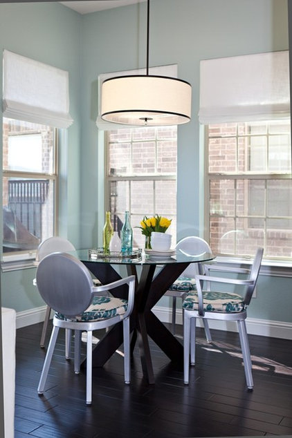 Transitional Dining Room by Abbe Fenimore Studio Ten 25