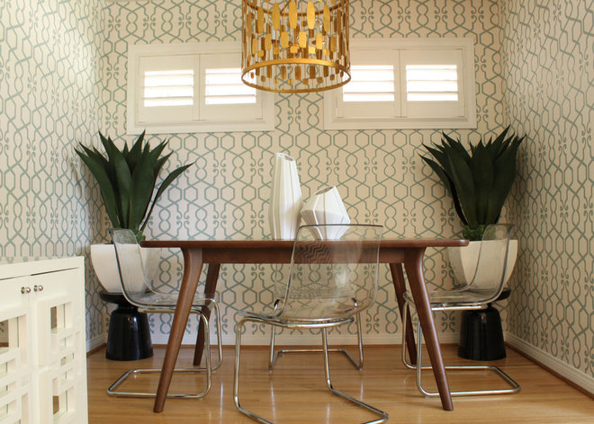 midcentury dining room by squarefoot interior design