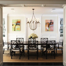 Transitional Dining Room by Blue Tangerine Art