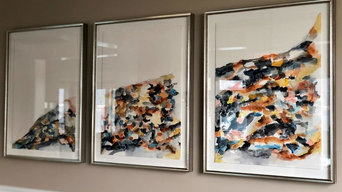 Abstract Triptych Art Commission for Dining Room