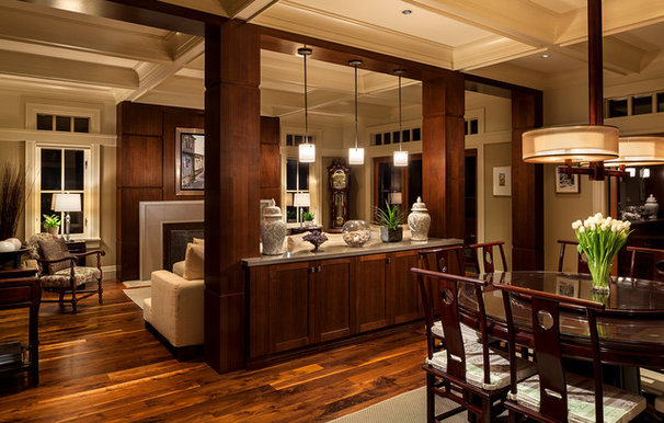 Traditional Dining Room by Peter Rose Architecture and Interiors