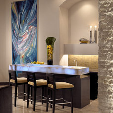 Contemporary Dining Room by Allen Saunders, Inc.
