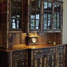Rustic Dining Room by L. Post Rustics