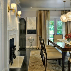 transitional dining room by Meyer & Meyer, Inc.