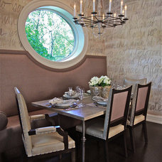 Transitional Dining Room by CMR Interiors & Design Consultations Inc.