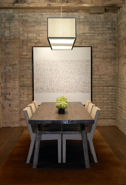 Rustic Dining Room by CMR Interiors & Design Consultations Inc.
