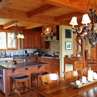 50 Best Rustic Kitchen Dining Room Combo With Yellow Walls Pictures