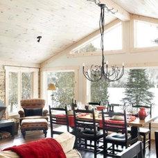 Traditional Dining Room by Martine Doré Designer