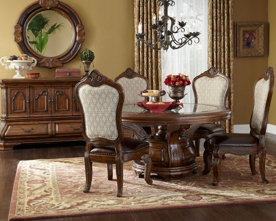 SaveEmail  AICO Tuscano Round Dining  AICO Dining Room Sets. Aico Dining Chairs. Home Design Ideas