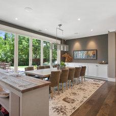 Farmhouse Dining Room by LMK Interiors