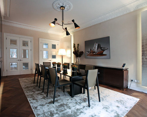 London dining room design ideas renovations photos with for 3 sided dining room table