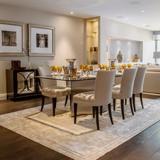 Transitional Dining Room by Compass and Rose