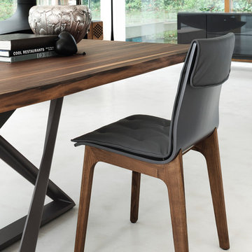 Alfa Leather Dining Chair by Bontempi Casa