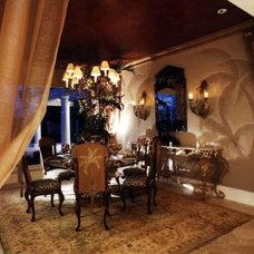 Mediterranean Dining Room by Peterson Homebuilders, Inc.