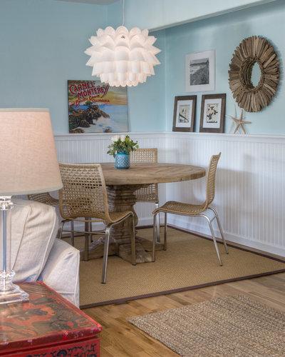 Beach Style Dining Room by Sabrina Alfin Interiors