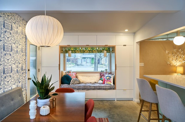 Midcentury Dining Room by CG&S Design-Build