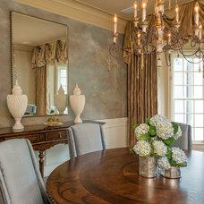 Traditional Dining Room by Regas Interiors, LLC