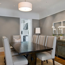 Transitional Dining Room by David Armour Architecture