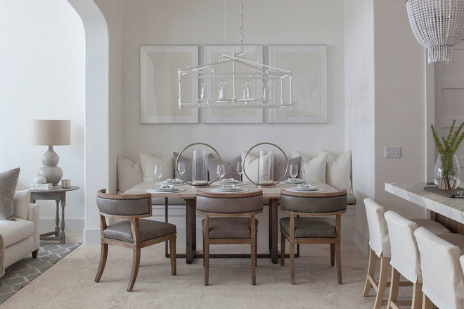 Beach Style Dining Room by Brad Ramsey Interiors