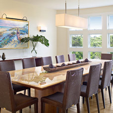 beach style dining room by Kitchens & Baths, Linda Burkhardt