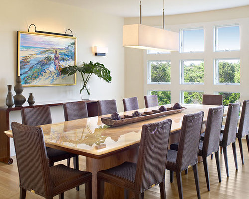 lighting for dining room ideas. coastal medium tone wood floor dining room photo in new york with yellow walls lighting for ideas
