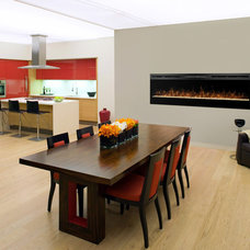 Contemporary Dining Room by Electric Fireplaces Direct