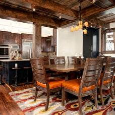 Rustic Dining Room by Abigail-Elise Interiors, Inc.