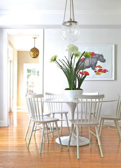 Transitional Dining Room by Rosa Beltran Design