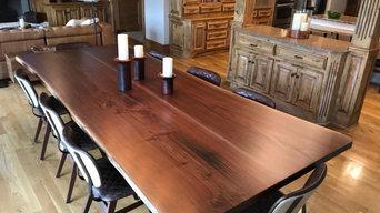 American black walnut large dining table