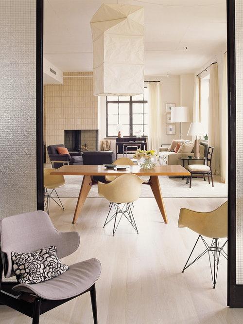 modern feather floor lamp dining room design ideas renovations. Black Bedroom Furniture Sets. Home Design Ideas