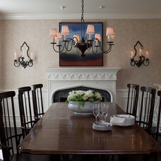 Traditional Dining Room by mark cutler