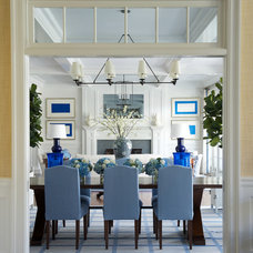 Beach Style Dining Room by James Schettino Architects