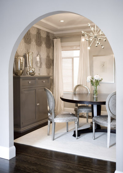 Transitional Dining Room By Amoroso Design