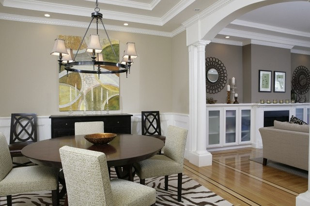 Contemporary dining room by amoroso design Sophisticated paint colors for living room