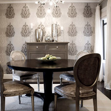 contemporary dining room by Amoroso Design