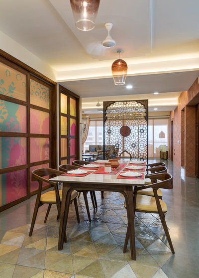 Asian Dining Room by Aangan Architects